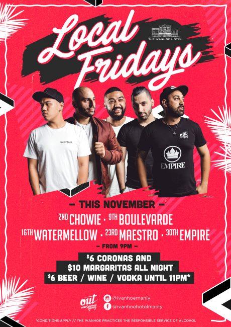 Friday nightlife & nightclubs Manly Beach,